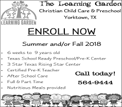 after school care in yorktown tx education the learning garden child care preschool