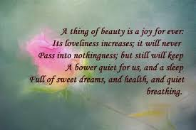John Keats Quotes A Thing Of Beauty Best of Keats's Quotes About Love Poems By John Keats 2424