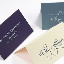 Wedding Place Cards With Guest Names Printed Or Blank