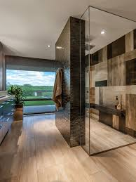modern bathroom design. Contemporary Glass And Stone Bathroom Modern Design T
