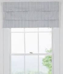 faux roman valance. Perfect Valance Image Is Loading CountryCurtainsBeigeampWhiteTickingPatternFaux On Faux Roman Valance A
