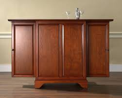 Cherry Bar Cabinet Crosley Furniture Lafayette Expandable Bar Cabinet In Classic