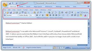 microsoft word menus 3 ways to add classic menus and buttons to microsoft office raymond cc