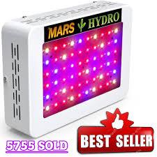 marshydro 300w led grow light on