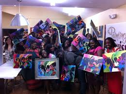 painting with a twist miami fl joanne s birthday bash dancing divas painting