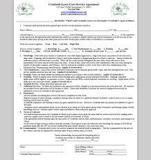 Lawn Care Contract Barca Fontanacountryinn Com