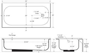 Bathtubs: Beautiful Standard Bathtub Sizes design. Standard ...