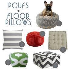 Floor Pillows And Poufs Floor Poufs And Floor Pillows