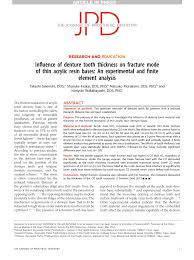 Pdf Influence Of Denture Tooth Thickness On Fracture Mode