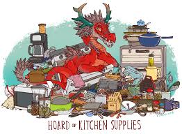 Of Kitchen Hoard Of Kitchen Supplies Print A Iguanamouth A Online Store