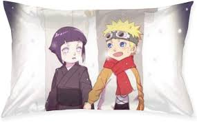 Amazon.com: Pillow Cases Naruto and Hinata Throw Cushion Covers Body Pillow  Cover for Car Sofa Bed Home Decor 20