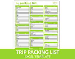 Packing List | Etsy
