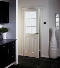white glass panel interior doors for kitchen