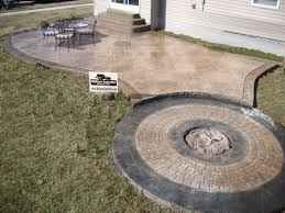 stamped concrete patio with fire pit cost. Plain Patio Stamped Concrete Patio Maineville Ohio 45039 For With Fire Pit Cost A