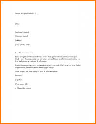 How Do You Write A Letter Of Resignation How To Write A Simple Letter Of Resignation Under
