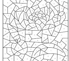 Small Picture Coloring Page Printable Color By Number Pages New In Interior