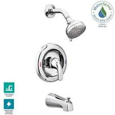 adler single handle 4 spray tub and shower faucet with valve in chrome