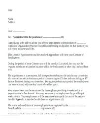 Appointment Letters In Doc Inspiration Job Appointment Letter Template Ustamco