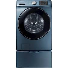 blue washer and dryer.  Blue Ft 10Cycle HighEfficiency FrontLoading Washer With Steam Blue  WF45M5500AZ  Best Buy In And Dryer