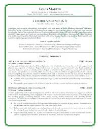 Sample Teacher Assistant Resume Teachers Assistant Resumes Teacher Daycare Resume Examples