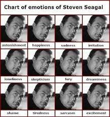 Steven Seagal Emotion Chart Poster Steven Seagal Emotion Chart Of Emotions Of Steven Seagal