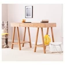 simple home office furniture. The Typical Of Pine Wood : Simple And Chic Home Office Furniture Light R