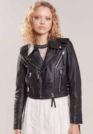 the kooples leather jacket black for women