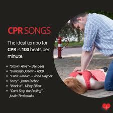 List Of Cpr Songs Cpr Songs Cpr Training Nursing School