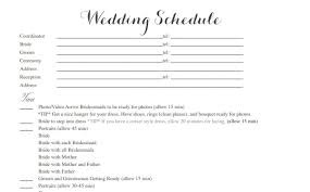 Wedding Schedule Template Cool Wedding Schedule Template Gallery Entry Level Resume 6