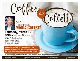 View more property details, sales history and zestimate data on zillow. Coffee With Collett In Ambler Senator Maria Collett