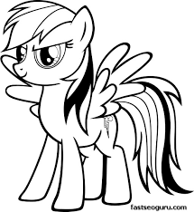 Rainbow Dash Coloring Page Clipart Panda Free Clipart Images