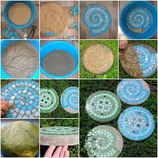 diy home project garden stepping stones