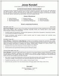 Branch Manager Resume In Bank Manager Resume Sample Metroproper Com