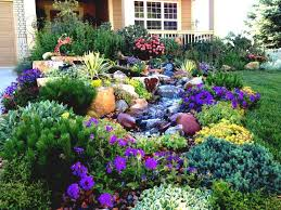 Front Yard Flower Ideas Colorful Modern Landscape Garden With Various  Frightening