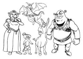 Small Picture All the Shrek Movie Characters Coloring Page All the Shrek Movie