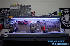 workbench lighting ideas. Rgb Led Under Shelf Bench Lighting The Makers Workbench Lights Magnifying Glass Work Light Magnifier Ideas O