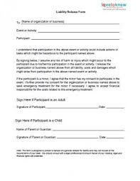 Printable Medical Release Form For Children Simple Printable Sample Release And Waiver Of Liability Agreement Form