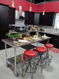 Red And Black Kitchen Kitchen Room Wood Burning Fireplace On Outdoor Kitchen Design