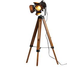 Tripod Floor Lamp Decorative Lamps Industrial Searchlight Table