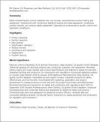 qc resume sample  quality control resume samples  precision