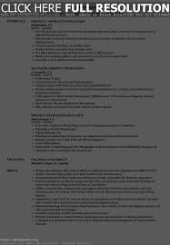 Operations Management Resume Resume Work Template