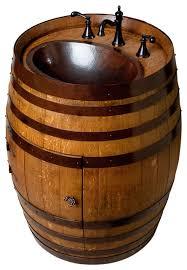 storage oak wine barrels.  Oak Wine Barrel Vanity On Storage Oak Barrels I