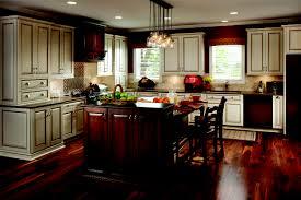 kitchen unusual dark kitchen design with cream tile backsplash and dark wood kitchen cabinet ideas