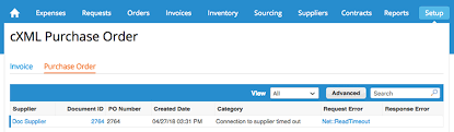 Capture Po And Invoice Cxml For Troubleshooting - Coupa Success Portal