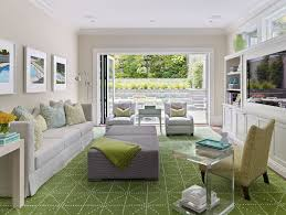 green area rugs in white living room