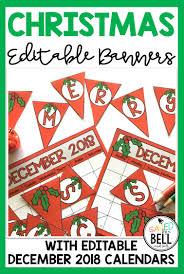 Merry Christmas Banner Print A Fun Printable And Editable Merry Christmas Banner And December