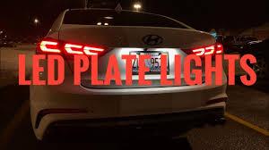 Hyundai Elantra License Plate Light Replacement 2017 Hyundai Elantra Led License Plate Light Installation How To