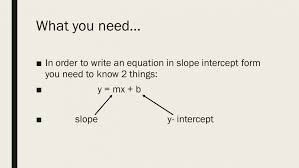 writing equations in slope intercept form 4 2 what you calculator with one point sl
