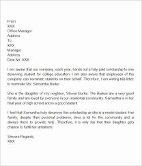 Scholarship Letter Of Recommendation Templates 50 Scholarship Letters Of Recommendation Template Culturatti