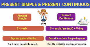 Present Simple And Present Continuous Important Differences
